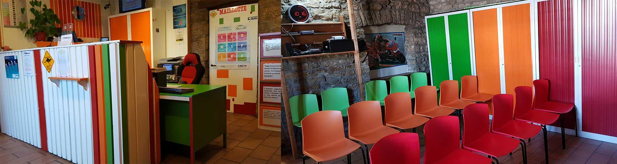 Les bureaux de l'Auto-école Maillotte à Besançon, 123 rue de Dole [aem_BureauEtSalleDeCode]