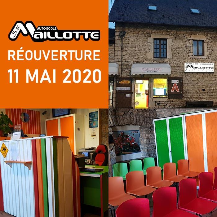 Réouverture le 11 mai 2020 de nos locaux
